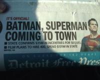 BATMAN VS SUPERMAN Headed To Michigan to Film