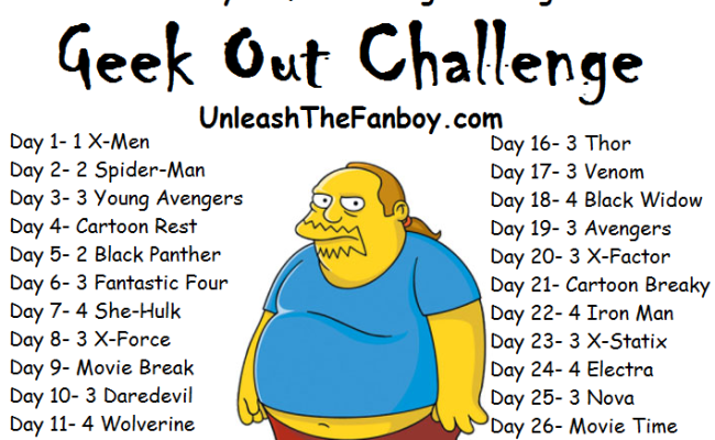 The All-New 30-Day Marvel Geek Out Comic Reading Challenge!