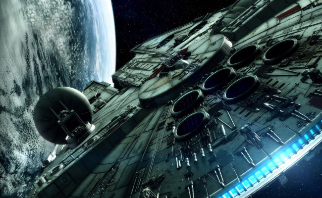 Behold The Millennium Falcon On Set of STAR WARS EPISODE 7