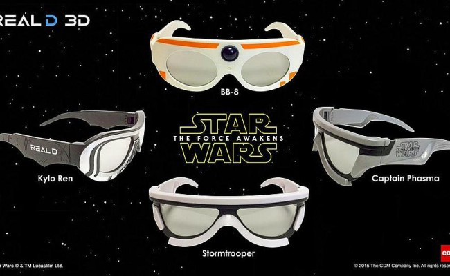 STAR WARS: THE FORCE AWAKENS to Have Character-Themed 3D Glasses
